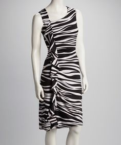 Take a look at this Zebra Ruffle Dress by Tango Mango on #zulily today!
