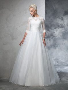 Fitted Prom Dress, ball gown jewel applique 3 4 sleeves long organza wedding dresses , Looking for that Perfect Prom Dress? Want to look amazing at the dance? Wedding Dress Organza, Wedding Dress Train, Applique Wedding Dress, Tulle Wedding, Gown Wedding, Ivory Wedding, Bridal Gowns, Making A Wedding Dress, Perfect Wedding Dress