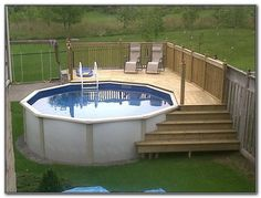Simple Above Ground Pool Landscaping Ideas bildresultat för above ground pool landscaping | pool med trädäck