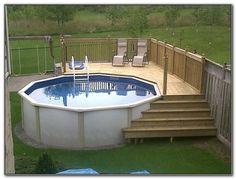 Bildresultat för above ground pool deck