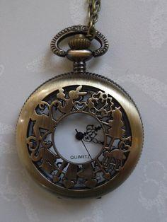 Bronze Alice in Wonderland Pocket Watch by ficklequeen on Etsy, £15.00