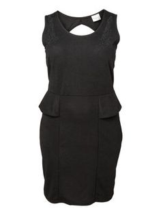 WORK SL AOVE KNEE DRESS - S, Black, main