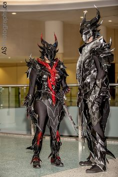 Daedric armor from Skyrim cosplayers captured at Toronto ComiCon 2013 by andreas_schneider, via Flickr