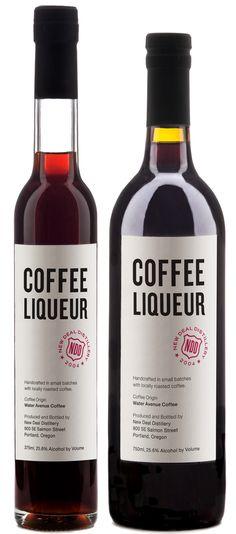 New Deal, Portland Coffee Liqueuers - SO much better than Kahlua.