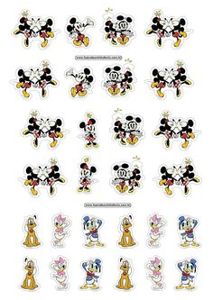 Mickey and Friends: Free Printable Stickers