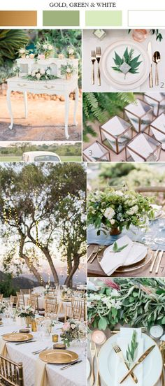 gold-white-and-green-wedding-color-ideas-for-spring-2017.jpg (600×1404)