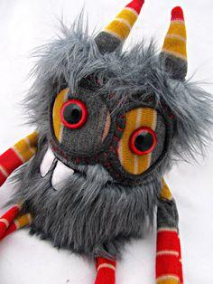 Plush Monster Cute Monster DENTON handmade by PinkSprinklesPlush, $24.00