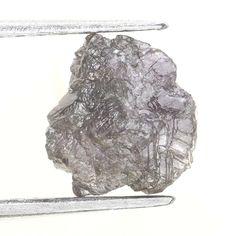 1.16 CT BIG NATURAL REAL  Uncut SHAPE ROUGH Greenish GRay DIAMOND