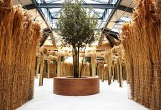 An evocative journey engaging the senses led guests around a maze of reeds during this captivating presentation. Stage Design, Event Design, Cottage Garden Design, Exhibition Display, Retail Design, Visual Merchandising, Installation Art, Event Decor, Decoration