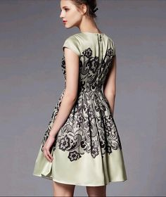 NWT Evening Knee-Length Natural Ball Gown Floral Retro Elegant Cocktail Dress ZO