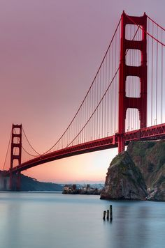 The iconic bridge in San Francisco; Golden Gate Bridge. An attraction that needs to be seen by every visitor of SF. More details on where to go on theculturetrip.com