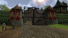 Bree City Gates - Lord of the Rings Online #LOTRO VistaLore daily pics of beauty & imagination GameScapes screenshots gaming games Images pictures Fantasy