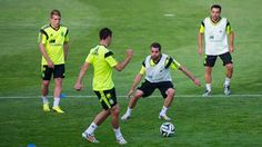 Spain players in action during a training sesion Fifa, Football Mondial, Action, Training, Sports, World Cup 2014, Spain, Hs Sports, Group Action