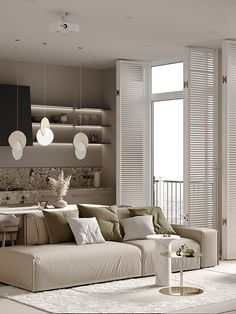 m - Dezign Ark (Beta) Minimalist Sofa, Minimalist Interior, Hotel Bedroom Design, Small Apartment Interior, E Room, Interior Architecture, Interior Design, Interior Minimalista, Living Room Decor