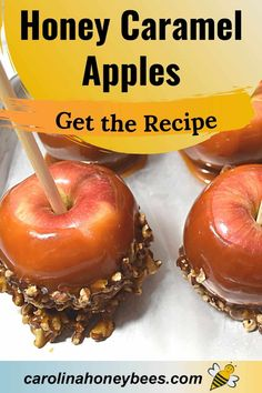Honey Caramel, Caramel Apples, Eating Raw, Healthy Eating, Cooking With Honey, Bee Products, Honey Recipes, Raw Honey, Desserts