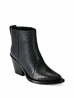 Acne Studios - Donna Leather Cowboy Ankle Boots
