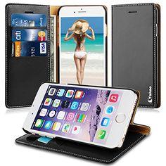 Vakoo iPhone 6 6s Tasche - [Bookstyle Series] iPhone 6 6s Ledertasche [Premium Tasche] [Kreditkarte Brieftasche] Schutzhülle für Apple iPhone 6 6s 4.7 Zoll - Schwarz Vakoo http://www.amazon.de/dp/B01458C0FU/ref=cm_sw_r_pi_dp_efcnwb0RH0NYK