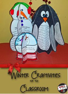 Winter Literacy Craftivities - provide teachers and students with 3 different fun, yet rigorous, craftivities for Winter. There is a Comprehension Snowman with questions to fit any text, Penguin Paragraph with 6 different writing prompts, and a Figurative Language Snowglobe. $
