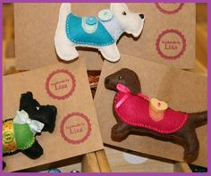 Locally handmade felt dog brooches. ALL breeds considered