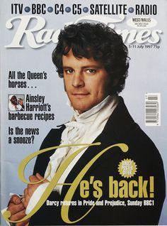 "5-11 July, 1997 - Radio Times - BBC WEST/WALES - ""Darcy Returns in 'Pride & Prejudice'"""