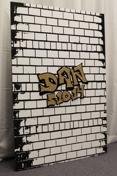 Graffiti Wall Sign in Board NYC Graffiti Wall Sign in Board for NYC Themed Bar Mitzvah