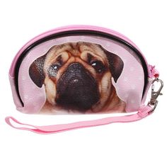 small make up bag Funky Pug cosmetic case that are by getgiftideas