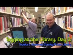 Topeka and Shawnee closed the Library and had 23 two-person teams tagging for 5 days. What teamwork. Library Themes, Shawnee, Teamwork, Attitude, Baseball Cards, Group, Tags, Mailing Labels