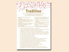 tradition why do we do that bridal shower game #babyshowerideas4u  #birthdayparty  #babyshowerdecorations  #bridalshower  #bridalshowerideas  #babyshowergames  #bridalshowergame  #bridalshowerfavors  #bridalshowercakes  #babyshowerfavors  #babyshowercakes