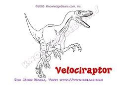 Velociraptor Color Pages Dinosaurs Pinterest Free Coloring Velociraptor Coloring Page
