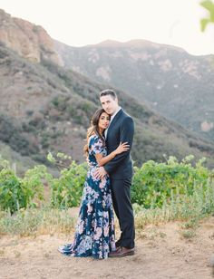 Love the bride's dress from these dreamy Malibu engagement photos