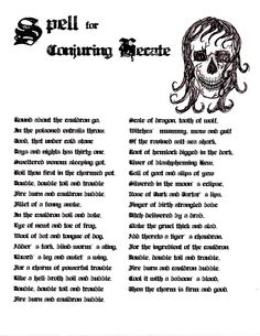 Witches Spell Book Pages | Macbeth Spell (PDF)