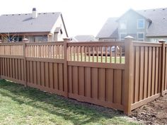 outdoor and patio goldenrod wooden home fence designs with pointed top caps also green grass yard - Home Fences Designs