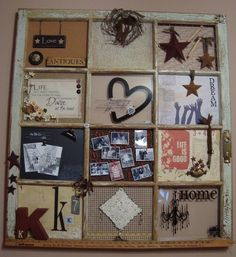 Window. A notion for my mother's quilt shop decor. Primitive style.