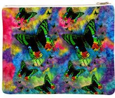 Madagascar Magic 100% Polyester Neoprene Clutch Bag