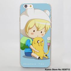 Adventure Time Hard Clear Skin Cover Case for Apple iPhone 6 6s 7 Plus SE 5 5s phone case