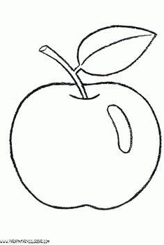 Free Apple Coloring Pages to Print Pattern Coloring Pages, Coloring Pages To Print, Colouring Pages, Coloring Pages For Kids, Coloring Books, Applique Patterns, Craft Patterns, Applique Designs, Beaded Embroidery