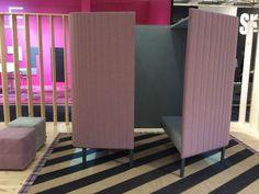 Isola ufficio acustica in tessuto BUZZIHIVE by BuzziSpace design Alain Gilles