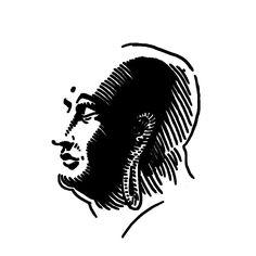 Buddah. — tattoo, tattoos, inspiration, woodcut, illustration — Daily Black & White Illustration