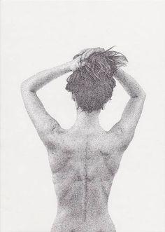 Pointillism Girl – wydr - the open art trading platform