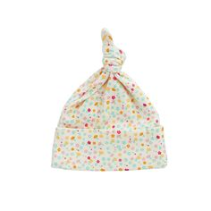 NATURE BABY KNOTTED BEANIE - POLLYANNA PRINT - Organic Babe