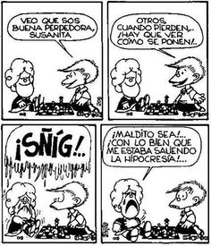 Susanita vs. Felipito Mafalda Quotes, Love Deeply, Humor Grafico, Comic Strips, I Movie, Wise Words, Jokes, Lol, Comics