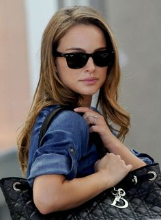 Natalie Portman - These Images are ©Atlantic Images. No use without permission. Stylish Sunglasses, Sunglasses Women, Natalie Portman Black Swan, Nathalie Portman, 2010s Fashion, Red And White Dress, Long Wavy Hair, The Most Beautiful Girl, Beautiful Women