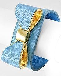 Bow Leather Bracelet - Blue, $12.99 (http://www.limelightaccessories.biz/bow-leather-bracelet-blue/)