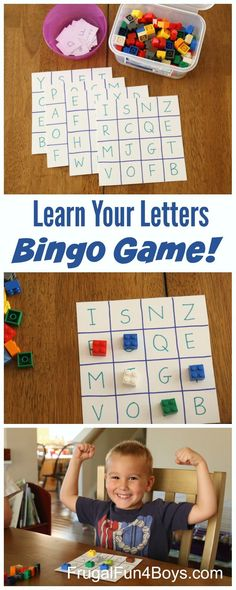 the Alphabet Bingo Game Learn Your Letters Alphabet Bingo Game - Fun preschool alphabet activity!Learn Your Letters Alphabet Bingo Game - Fun preschool alphabet activity! Preschool Learning Activities, Fun Learning, Toddler Activities, Fun Activities For Preschoolers, Preschool Ideas, Stem Activities, Learning Spanish, Kindergarten Literacy Activities, Fun Games For Toddlers