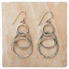 Earrings - Textured Trio Earrings - Arhaus Jewels