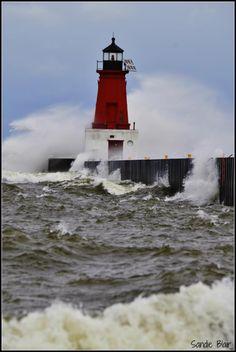 Menominee MI lighthouse Sandie Blair Michigan's Upper Peninsula