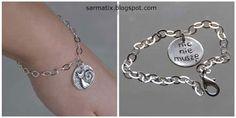 Handmade bracelet, recycled silver, Art Clay, OOAK
