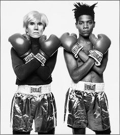 Andy Warhol and Jean Michel Basquiat by Michael Halsband