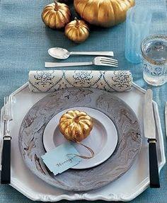 {Pumpkins   Pinecones}: Cerulean, Latte, Antique Gold, Silver, White