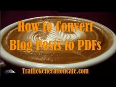 """I'd like to share with you a quick traffic hack I learned not too long ago that will increase your traffic, build links, AND create an appearance of """"being everywhere"""".  All using what you already have: your existing blog content.  http://www.trafficgenerationcafe.com/how-to-convert-blog-post-into-pdf/"""